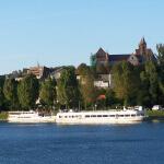 Blick auf Breisach mit Münster und Rhein