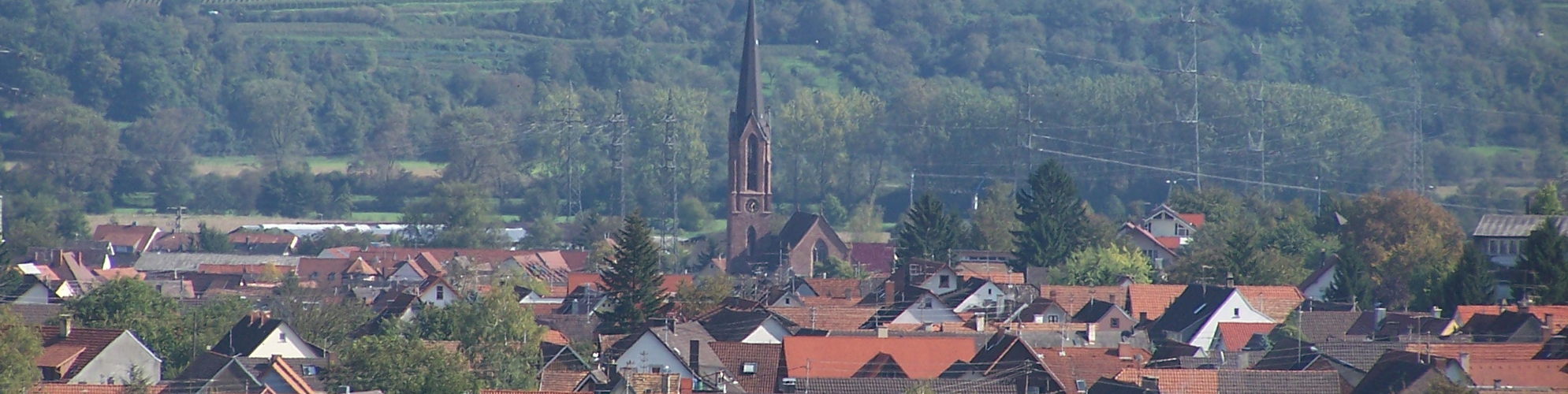 Blick auf Eichstetten - Winzerdorf am Kaiserstuhl