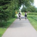 Radfahrer auf dem Radweg