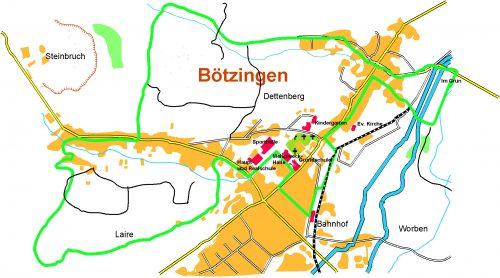 Karte Brunnenpfad