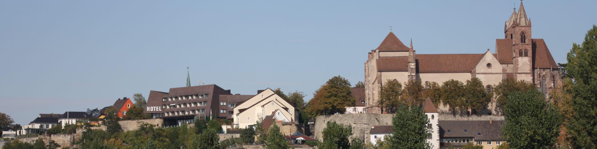 Blick auf Breisach mit dem Münster