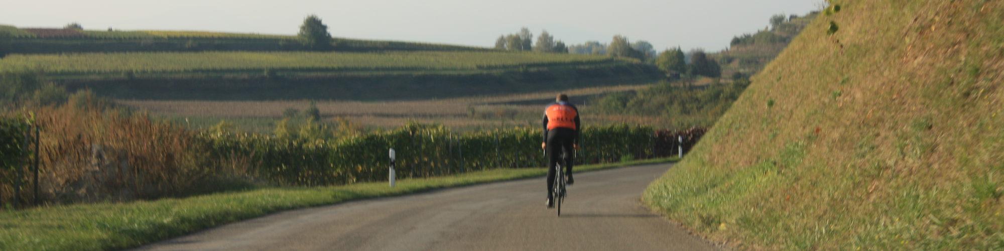 Radfahrer am Kaiserstuhl