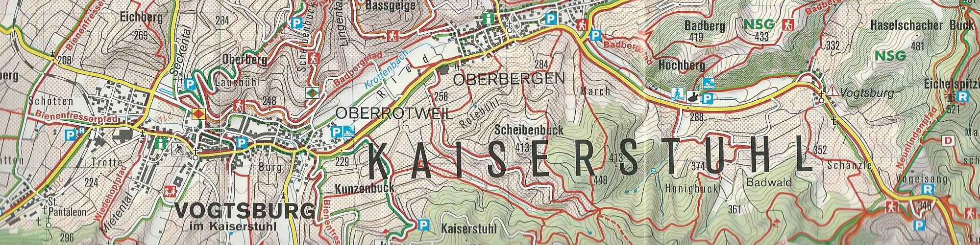 Elsass Karte Zum Ausdrucken.Landkarten Kaiserstuhl