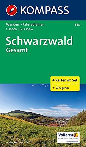 Kompass Wanderkarte Schwarzwald