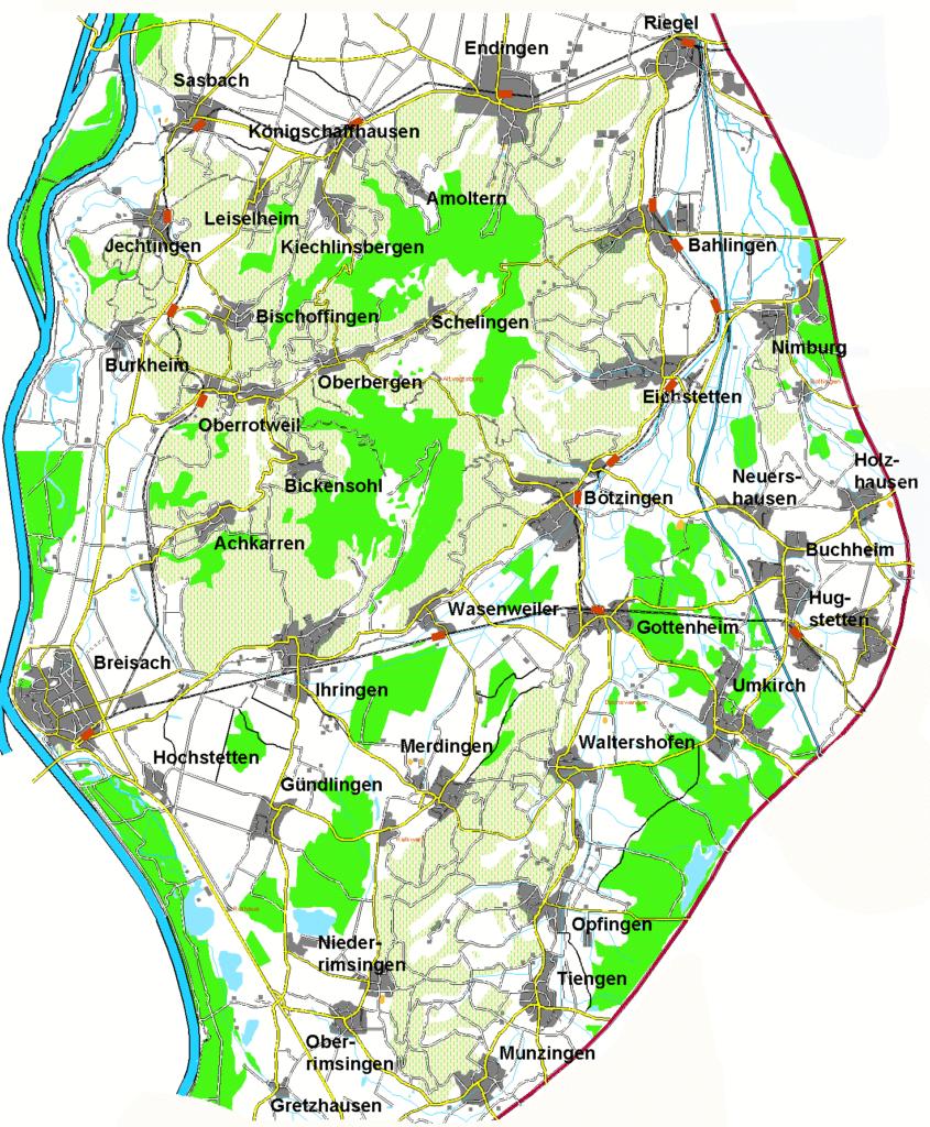 Kaiserstuhlkarte