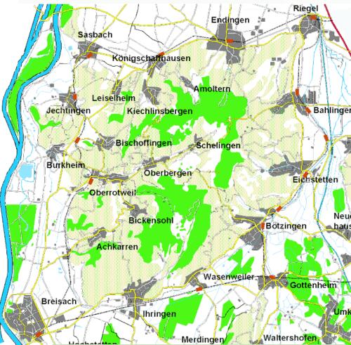 Karte der Kaiserstuhlbahn