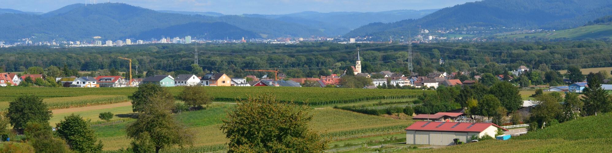 Ansicht Tiengen mit Freiburg
